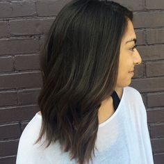 First ever color appt for @nicolepatel ! As pretty and warm as this sunny day  also we cut off about five inches  color thanks to @goldwellkmsacademy 's blonding cream!! #goldwell #balayage #brunetteshavemorefun #trimnashville #trimlegendarybeauty #modernsalon #randco #behindthechair @behindthechair_com @cosmoprofbeauty @modernsalon
