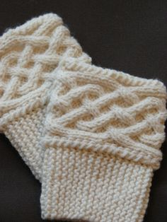 Hand Knit Boot Cuff/Topper  Celtic Knot by ALFrancesDesigns, $18.00