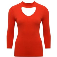 M&Co Ribbed Choker Neck Jumper (£22) ❤ liked on Polyvore featuring tops, sweaters, orange, red v neck sweater, v-neck tops, red top, cut out sweater and cut-out tops Orange Jumpers, Neck Choker, Cut Out Top, Shoulder Tops, Orange Red, Ribbed Sweater, Red Sweaters, V Neck Tops, Chokers