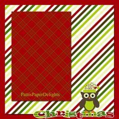 Premade Christmas Scrapbooking Page 12x12 by PattisPaperDelights, $1.75