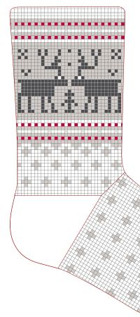 DIY Pattern knitting kits - Everything we offer you has been a long hours patiently handmade! Knitting Kits, Knitting Charts, Double Knitting, Knitting Socks, Knitting Projects, Knitting Patterns, Knit Stockings, Christmas Stockings, Woolen Socks