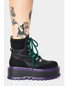 Club Exx Black Glitter Traitor Boots With Holographic Hearts | Dolls Kill Black Platform Boots, Platform Sneakers, Black Boots, Wedge Boots, Bootie Boots, Shoe Boots, Buckle Boots, Combat Boots, Creeper Boots
