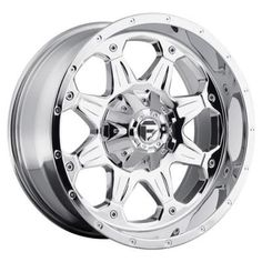 MHT Fuel Offroad Wheels MHT Fuel Offroad Boost, 17x9 Wheel with 5 on 4.5 and 5 on 5 Bolt Pattern - Powder Chrome - D53317902645…