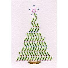 Stitching Cards Bead Christmas Tree