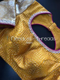 Needles n Threads, Nish*tha celebrations,Kings court avenue, Nellore Simple Blouse Designs, Stylish Blouse Design, Fancy Blouse Designs, Sari Blouse Designs, Designer Blouse Patterns, Blouse Models, Saris, Saree Blouse, Work Blouse