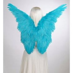 FashionWings (TM) Blue Macaw Butterfly Fairy Birds Costume Feather Angel Wings Photo Props. Rio Jewel.