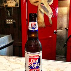 Old Style Lager at the World Famous Billy Goat Tavern in Downtown Chicago!