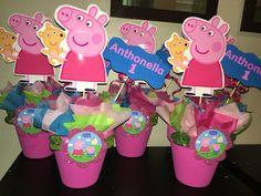 Peppa pig centerpieces