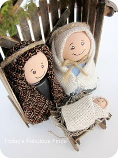 Make Your Own Childrens Nativity Set Tutorial From Todays Fabulous Finds Via Design Dazzle