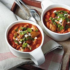 Smoky Slow-Cooked Chili Recipe | Cooking Light #myplate #protein #veggies #dairy #fruit
