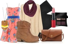 """""""summer dress to fall"""" by haterism on Polyvore"""