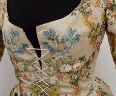 18th Century Clothing at Vintage Textile: #2761 Caraco jacket
