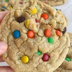 M&M Cookies are thick, chewy, soft-baked, and loaded with miniature m&m's. There are a couple tricks that make these the best m&m cookies. Cinnamon Banana Bread, Banana Bread Muffins, Applesauce Muffins, M M Cookies, Yummy Cookies, Recipe For M&m Cookies, Best M&m Cookie Recipe, Cracker Cookies, My Recipes