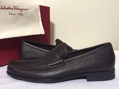 Salvatore Ferragamo Narni Hickory Brown Men's Leather Slip On Loafers Men's Leather, Leather Slip Ons, Mens Designer Shoes, Salvatore Ferragamo, Loafers Men, Casual Shoes, Oxford Shoes, Dress Shoes, Best Deals