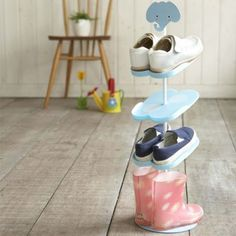 Super cute kids shoe rack to keep your little ones shoes neat and tidy   #matildajaneclothing  #MJCdreamcloset