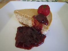 Gluten free and egg free peanut butter and jam cheesecake!