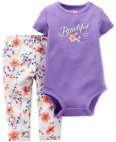 Carter\'s Baby Girls\' 2-Piece Beautiful Bodysuit & Pants Set - Kids - Macy\'s