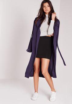 Missguided - Scuba Mini Skirt Black