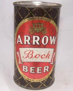 Arrow Bock Beer, USBC 32-09, Grade 1- – Beer Cans Plus