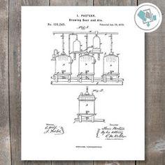Brewing Beer Patent Print