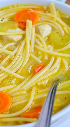Homemade Chicken Noodle Soup 2 Nov. 2014, Got the urge for some great old-fashioned soup and this fit the bill. I did the recipe exactly as is except for the noodles. I used large egg noodles. Great comfort food and I will definitely make it again.