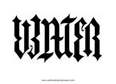 Water ambigram