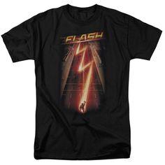 Flash Ave. on Black T-Shirt