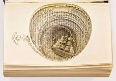 Altered book-paper art-sailboat