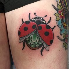 Lil lady bug #jamesclements_tattoo