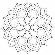très beaux mandalas - Art and visual inspirations Mandala Design, Mandala Dots, Mandala Pattern, Simple Mandala, Stained Glass Patterns, Mosaic Patterns, Embroidery Patterns, Mandala Drawing, Mandala Painting