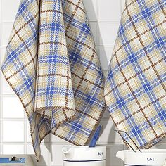 OHJE: Luoto-keittiöpyyhkeet Plaid Scarf, Towels, Weaving, Textiles, How To Make, Crafts, Women, Fashion, La Perla Lingerie