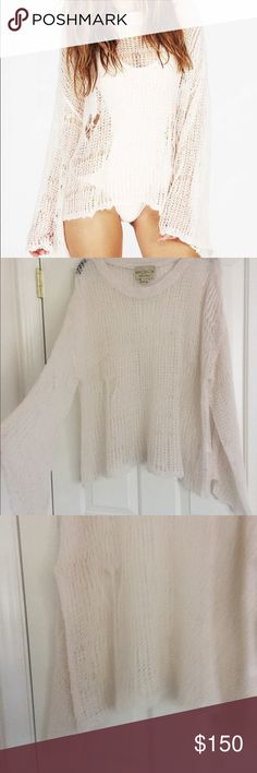 Wildfox White Label Lost Sweater Never worn! Like new condition! Cable knit, White Label Item, highly versatile. Will consider offers Wildfox Couture Sweaters Crew & Scoop Necks