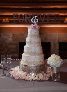 Wedding cake at Camp Loughridge #LoughridgeWeddings