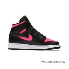 New Air Jordan 1 GS Black Hyper Pink-Anthracite 729f6ef2640f