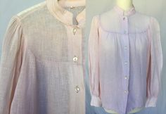 795d4216d7cc light cotton pale pink linen sheer gauze muslin blouse