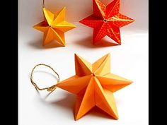 Origami 3d Christmas Star - easy and rich. Etoile de Noël. Звезда для елки