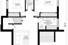Plan de Maison Moderne Ë_140 | Leguë Architecture Best Investments, Architecture, House Plans, Investing, Floor Plans, How To Plan, Design, Houses, Arquitetura