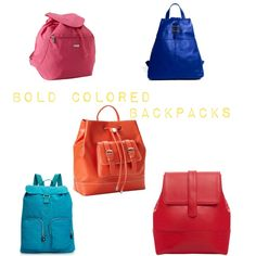 Colored backpacks for spring