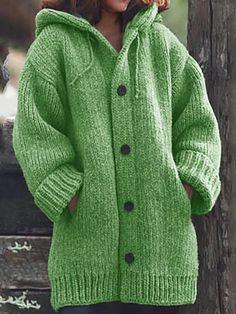 Chunky Cardigan, Hooded Cardigan, Loose Sweater, Sweater Coats, Long Sleeve Sweater, Knit Cardigan, Winter Cardigan, Black Cardigan, Hooded Jacket