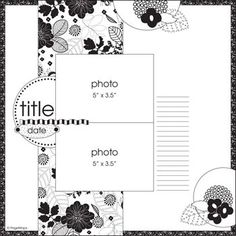 ScrapBook Ideas: Layout scrapbook