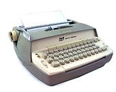 """1953 Smith Corona Sterling Portable Typewriter - """"With Green Keys and Carrying Case"""""""
