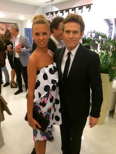 """Giorgia Marin and actor Willem Defoe attend the """"Infernet"""" press conference during the 71st Venice International Film Festival on September 4th 2014 in Venice, Italy."""