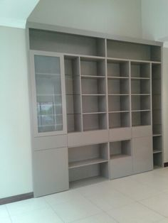 A bookcase unit I made for a client.Superwood sprayed.It has drawers