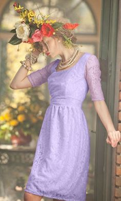 Lace Lavender dress from Shabby Apple This dress would make a pretty bridesmaid   dress.