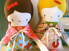Mod Maisy Fabric Doll. $55.00, via Etsy.