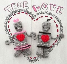 Mr. & Mrs. Robot crochet pattern.