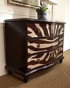 1000 images about animal print furniture on pinterest zebra dresser zebras and dressers. Black Bedroom Furniture Sets. Home Design Ideas