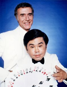 Ricardo Montalban and Herve Villechaize as Mr. Roarke and Tattoo in the American television series 'Fantasy Island.' Circa 1980.