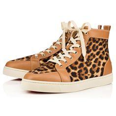 CHRISTIAN LOUBOUTIN Rantus Men's Flat  Laiton Leopard Canvas - Men Shoes - Christian Louboutin. #christianlouboutin #shoes #