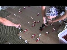 """How to install porcelain wood looking tiles 8""""x39"""" (20x100) with Perfect Level Master Patent Pending - YouTube"""
